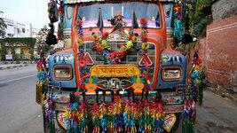 Trucks decorated in India.jpg