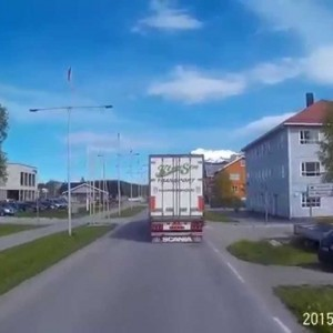 Trucking from Løding to Sund, Northern Norway 2015 - YouTube