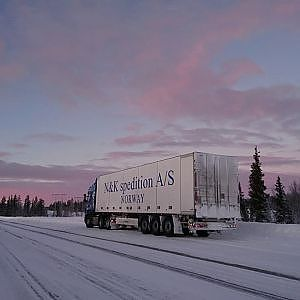 Winter trucking in Northern Scandinavia Vol 4 - YouTube